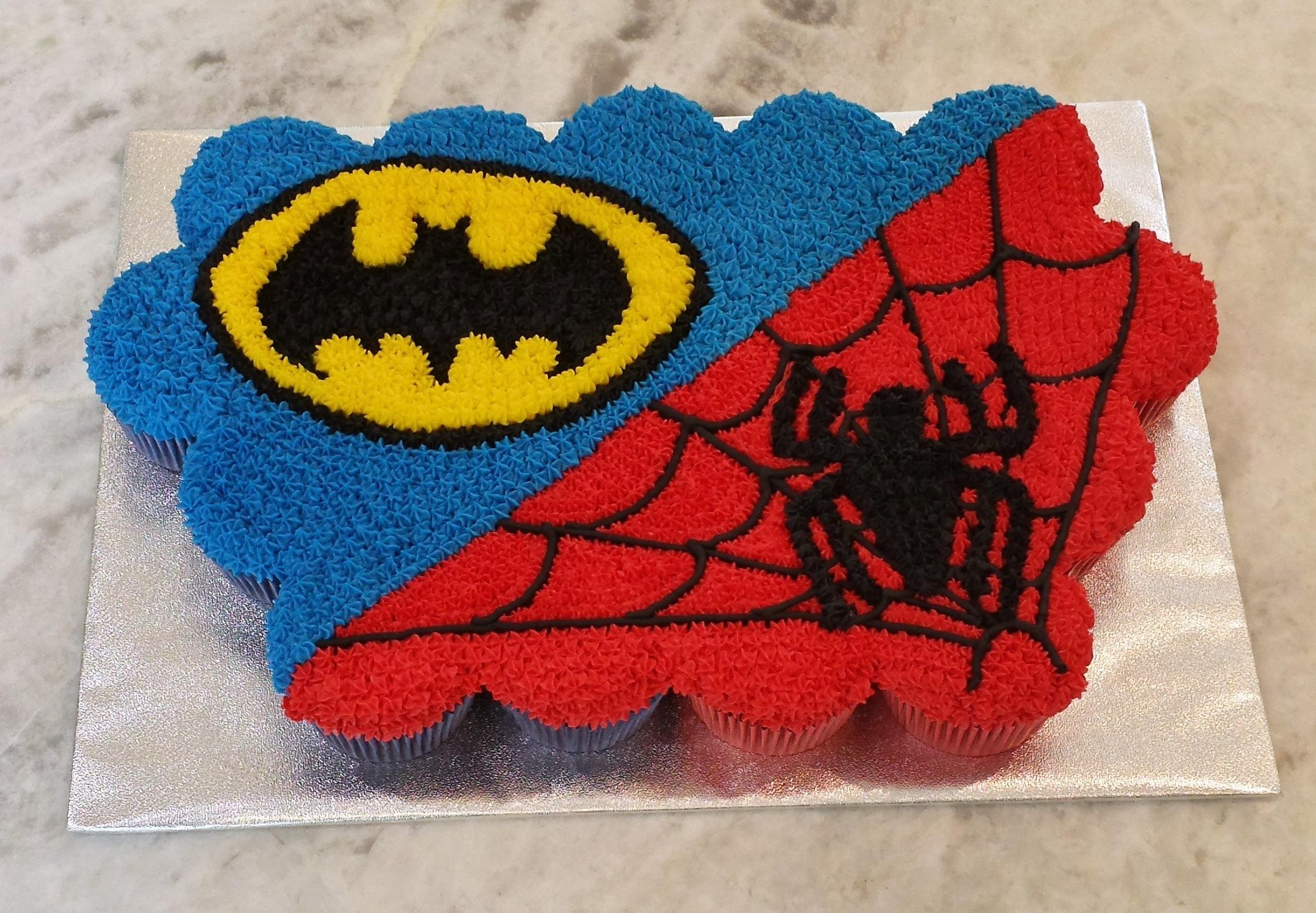 Batman Cupcake Cake Spidey Dessert Gems